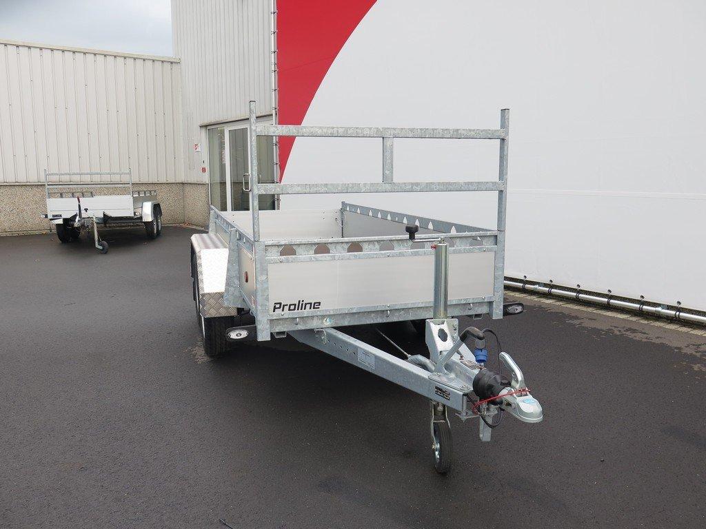 Proline tandemas aanhanger 305x131cm 2000kg alu Aanhangwagens XXL West Brabant 3.0 voorkant Aanhangwagens XXL West Brabant