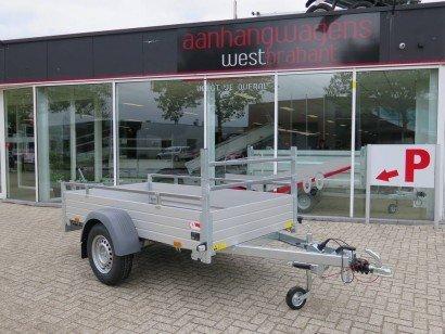 Saris enkelas Alu 255x133cm geremd bakwagens enkelas Aanhangwagens XXL West Brabant hoofd nieuw