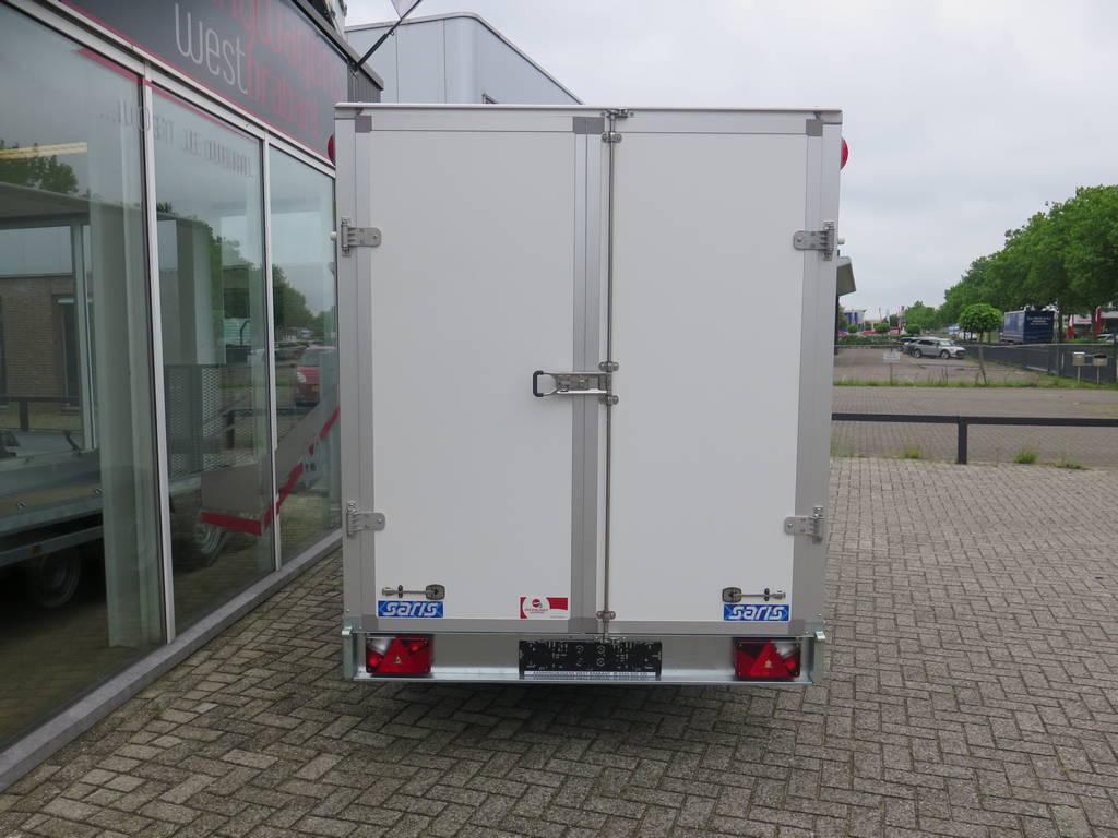 Saris gesloten aanhanger 356x169x180cm 2700kg Saris gesloten aanhanger 356x169x180cm 2700kg Aanhangwagens XXL West Brabant 2.0 achterkant dicht