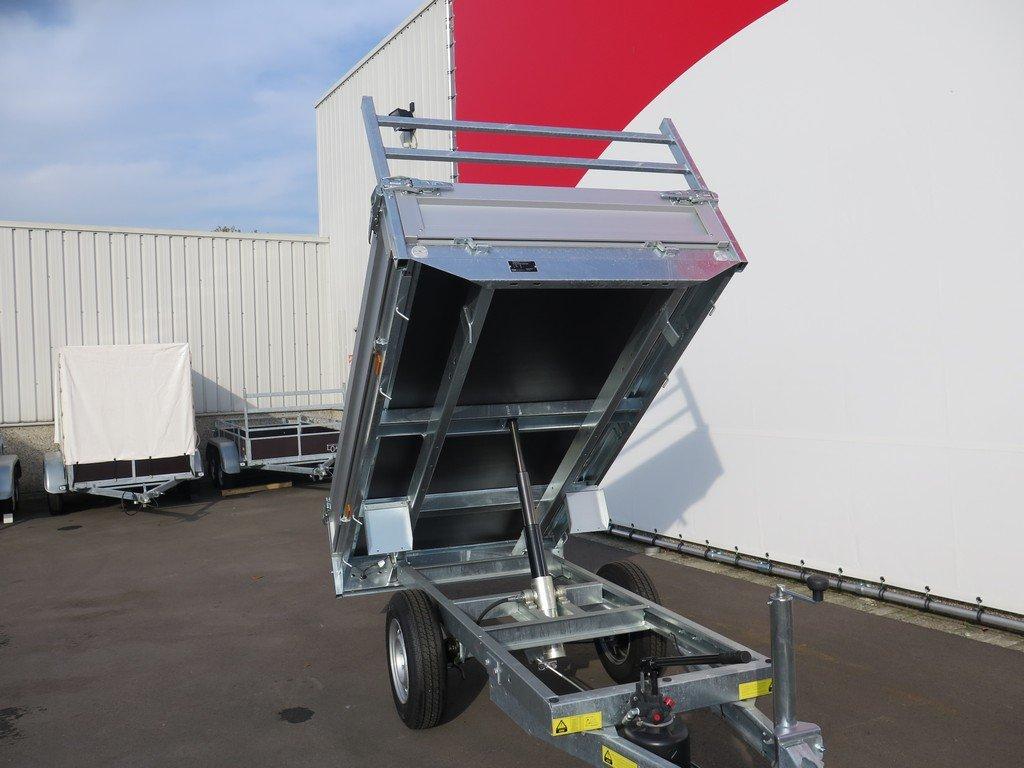 Saris kipper 255x135cm 1400kg Aanhangwagens XXL West Brabant 2.0 voorkant gekiept