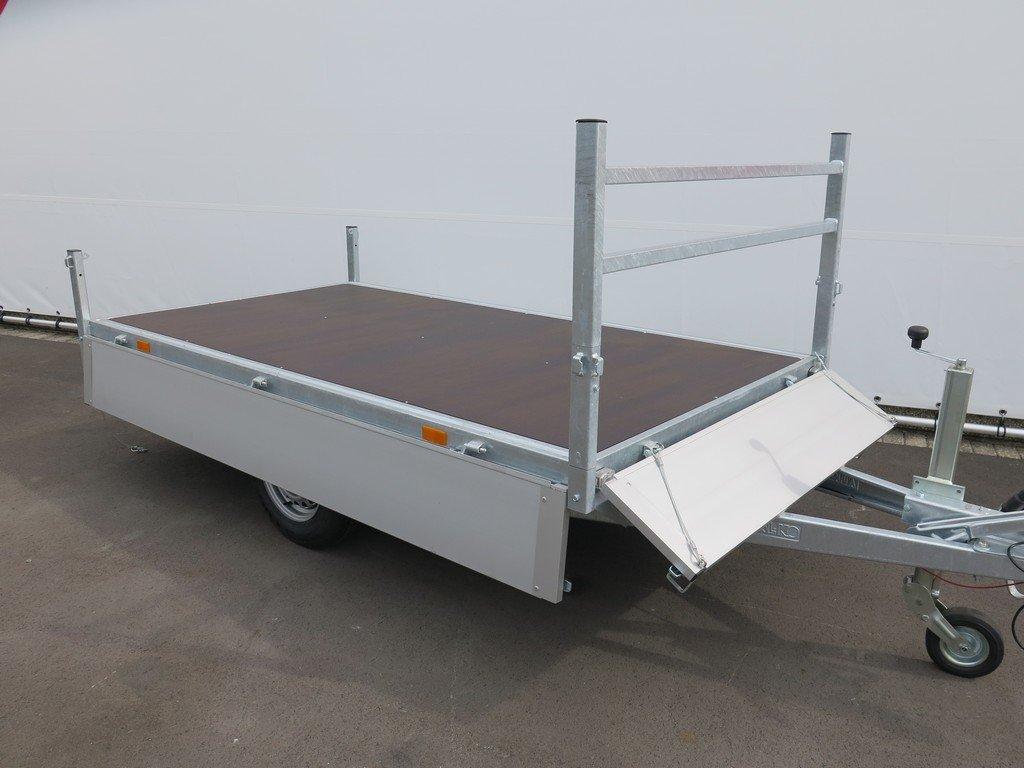Saris plateauwagen 270x150cm 1350kg Aanhangwagens XXL West Brabant 3.0 volledig vlak
