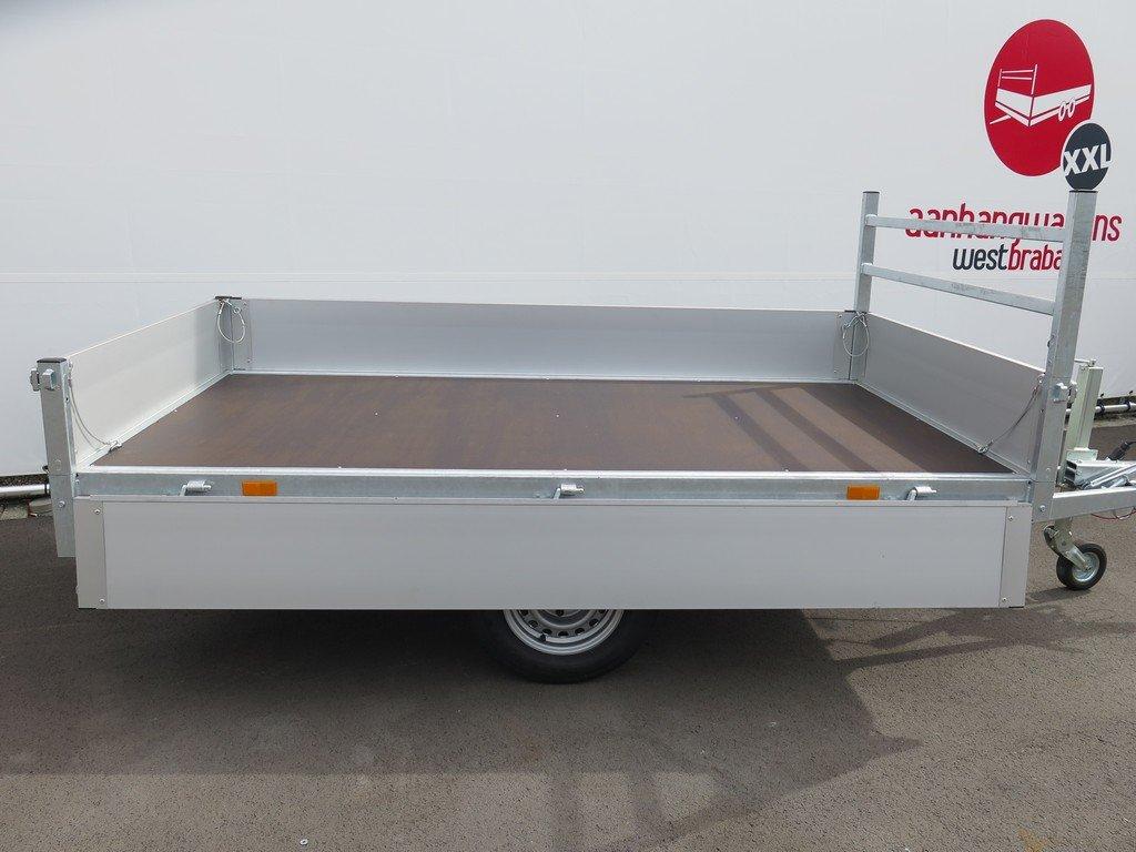 Saris plateauwagen 270x150cm 1350kg Aanhangwagens XXL West Brabant 3.0 zijkant open