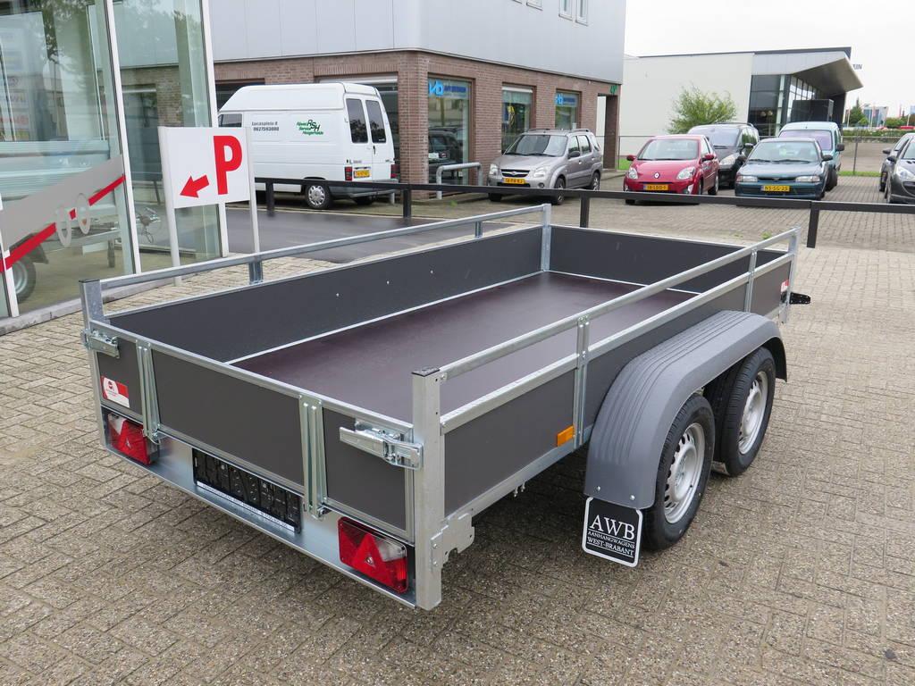 Saris tandemas 306x154cm bakwagens tandemas Aanhangwagens XXL West Brabant achterkant