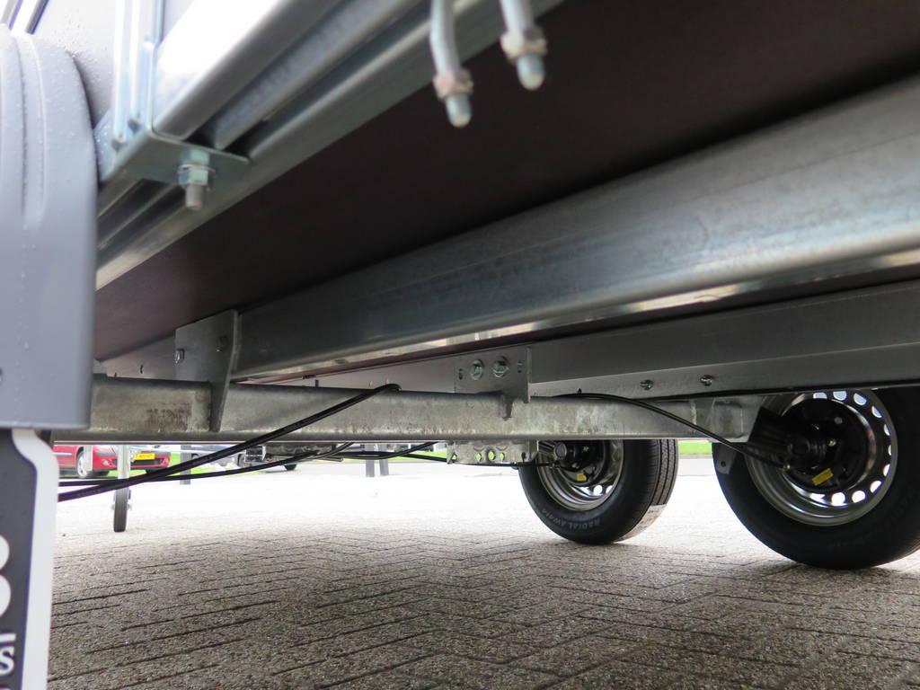 Saris tandemas 306x154cm bakwagens tandemas Aanhangwagens XXL West Brabant chassis