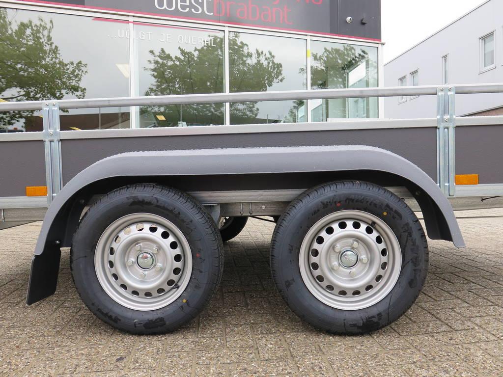 Saris tandemas 306x154cm bakwagens tandemas Aanhangwagens XXL West Brabant dubbele as