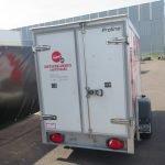 Verhuur 3A. 750kg koelwagen 250x130x150cm Aanhangwagens XXL West Brabant 2.0 achter dicht