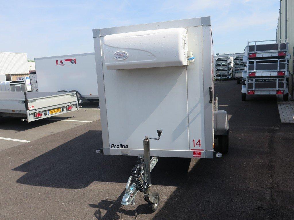 Verhuur 3A. 750kg koelwagen 250x130x150cm Aanhangwagens XXL West Brabant 2.0 voorkant