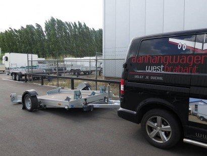 Verhuur Motortrailer 280x176cm 1350kg huren Aanhangwagens XXL West Brabant hoofd
