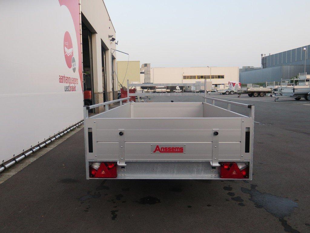 Anssems enkelas aanhanger 251x130cm 750kg alu Aanhangwagens XXL West Brabant 3.0 achter dicht Aanhangwagens XXL West Brabant