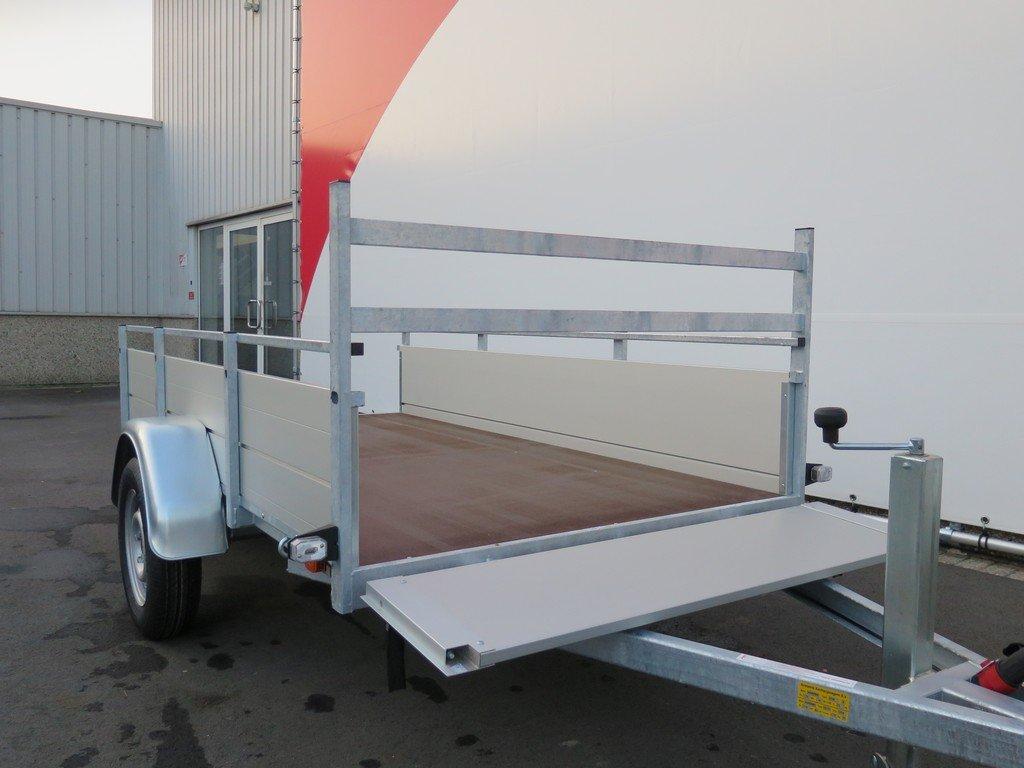 Anssems enkelas aanhanger 251x130cm 750kg alu Aanhangwagens XXL West Brabant 3.0 voorbord open Aanhangwagens XXL West Brabant