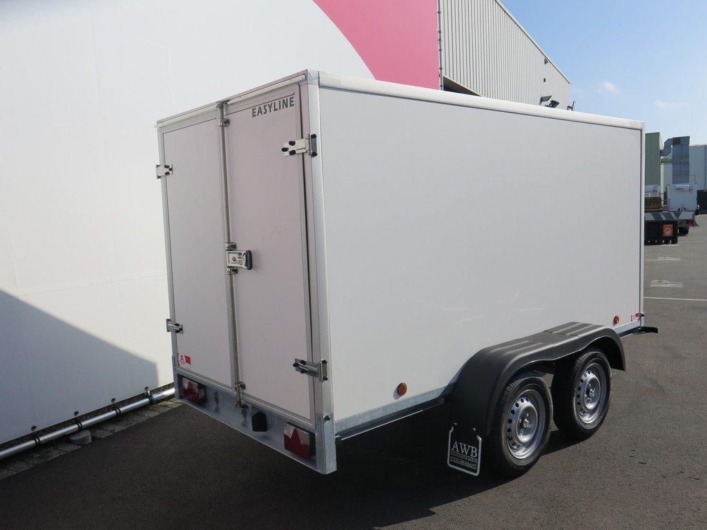 Easyline gesloten aanhanger 300x150x150cm 1500kg Aanhangwagens XXL West Brabant 2.0 achter dicht