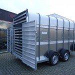 Ifor Williams veetrailer 427x178x213cm veetrailers Aanhangwagens XXL West Brabant zijkant Aanhangwagens XXL West Brabant