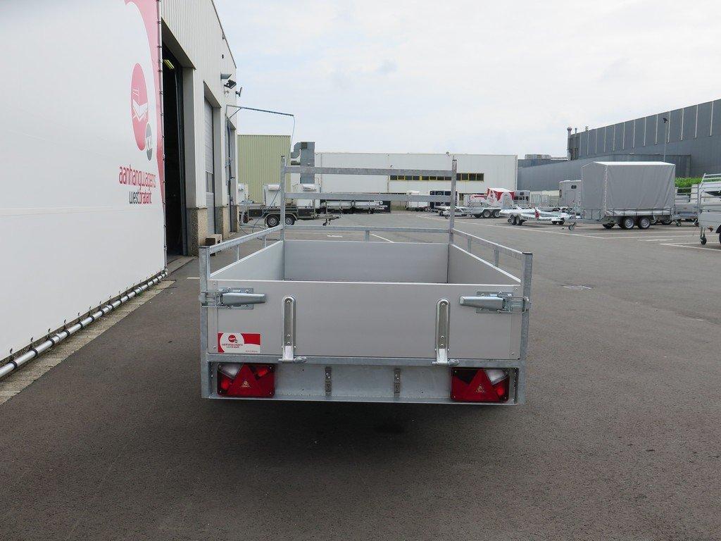 Loady enkelas aanhanger 200x132cm 750kg alu Aanhangwagens XXL West Brabant 2.0 achter dicht Aanhangwagens XXL West Brabant