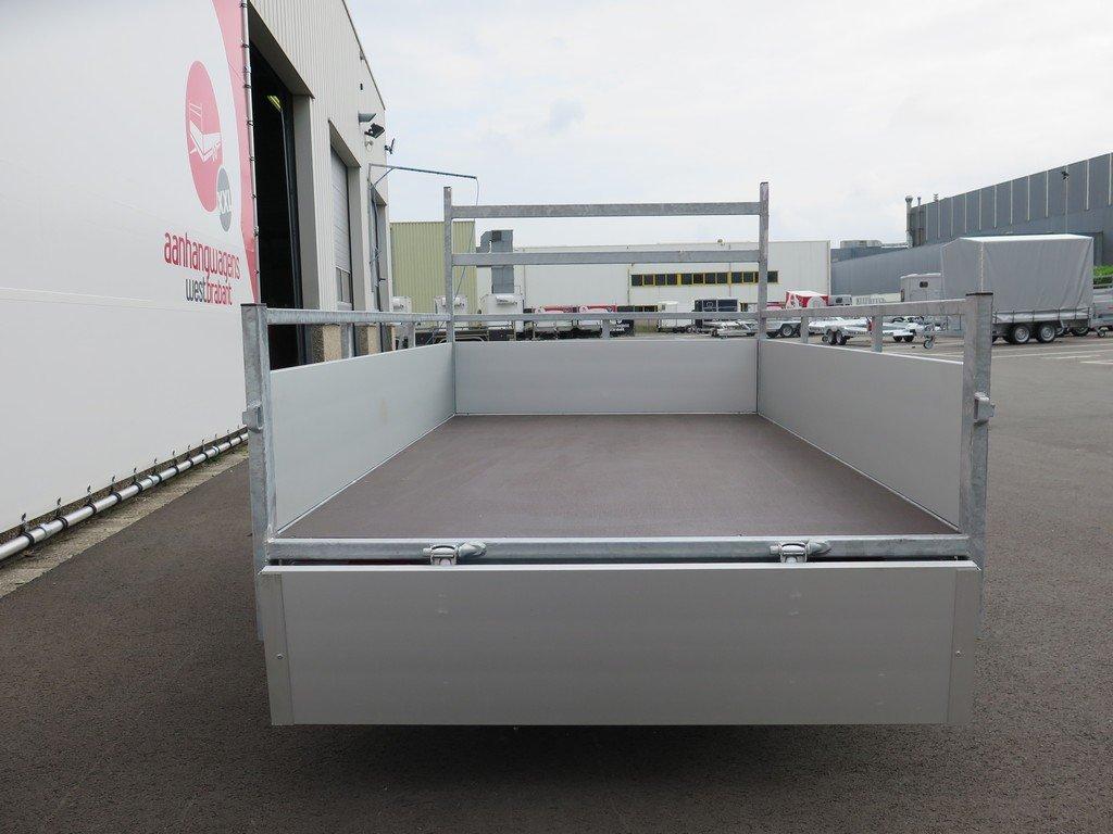 Loady enkelas aanhanger 200x132cm 750kg alu Aanhangwagens XXL West Brabant 2.0 achter open Aanhangwagens XXL West Brabant
