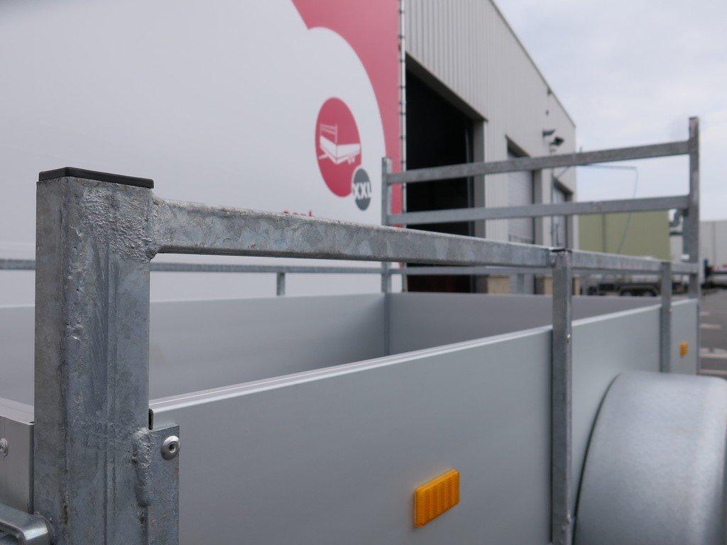 Loady enkelas aanhanger 200x132cm 750kg alu Aanhangwagens XXL West Brabant 2.0 bindreling Aanhangwagens XXL West Brabant