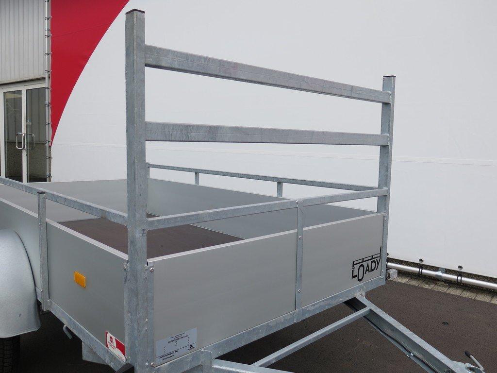 Loady enkelas aanhanger 200x132cm 750kg alu Aanhangwagens XXL West Brabant 2.0 koprek Aanhangwagens XXL West Brabant