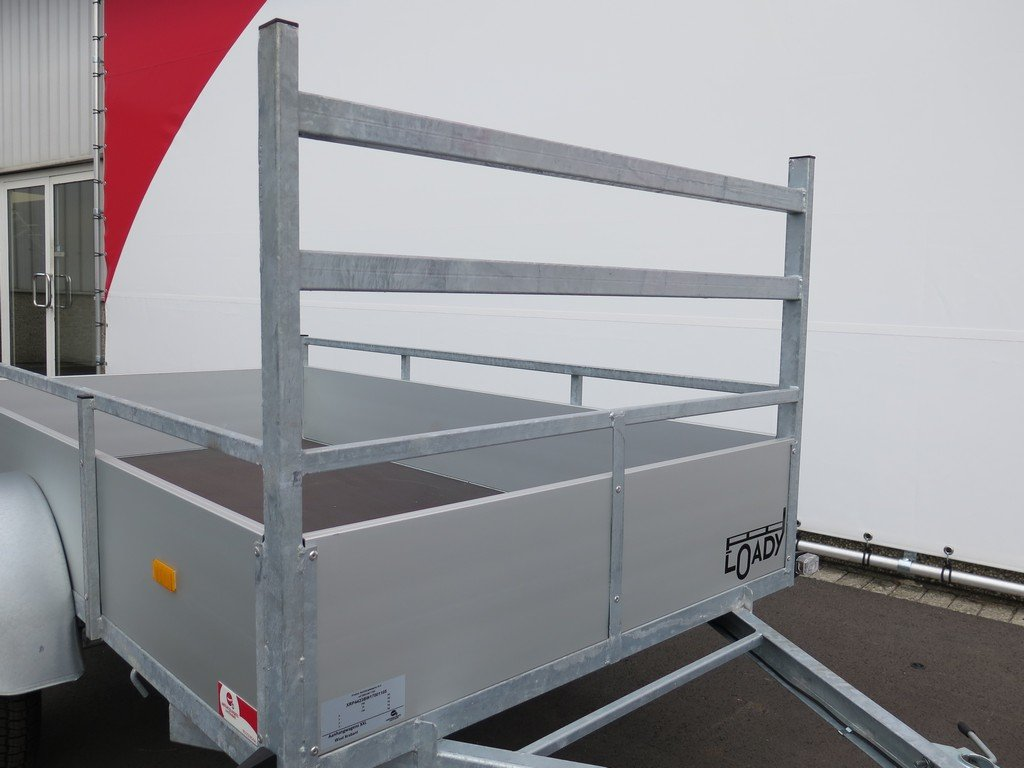 Loady enkelas aanhanger 200x130cm 750kg aluminium Loady enkelas aanhanger 200x132cm 750kg alu Aanhangwagens XXL West Brabant 2.0 koprek