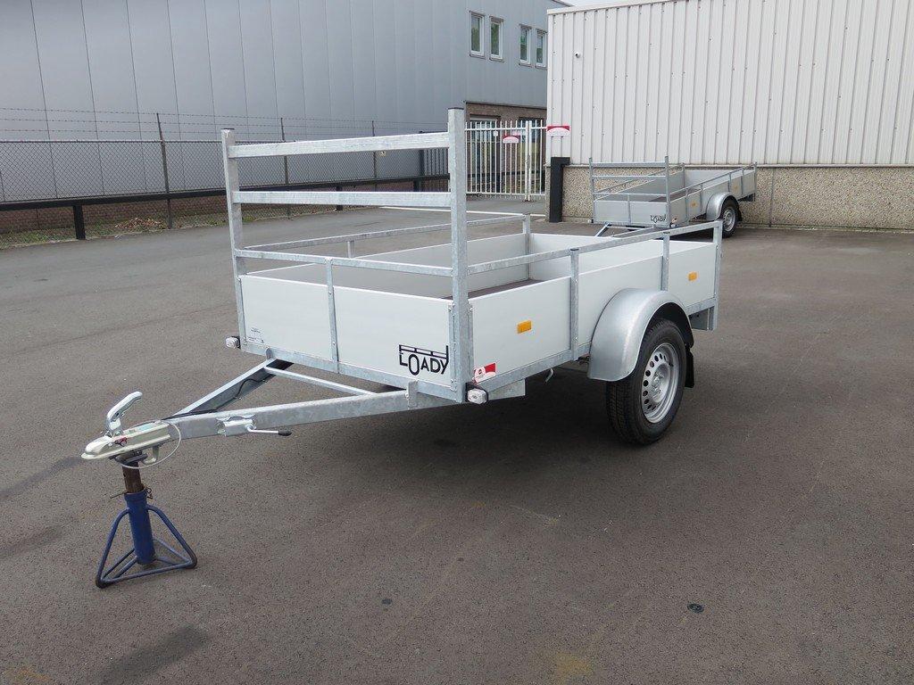 Loady enkelas aanhanger 200x130cm 750kg aluminium Loady enkelas aanhanger 200x132cm 750kg alu Aanhangwagens XXL West Brabant 2.0 overzicht