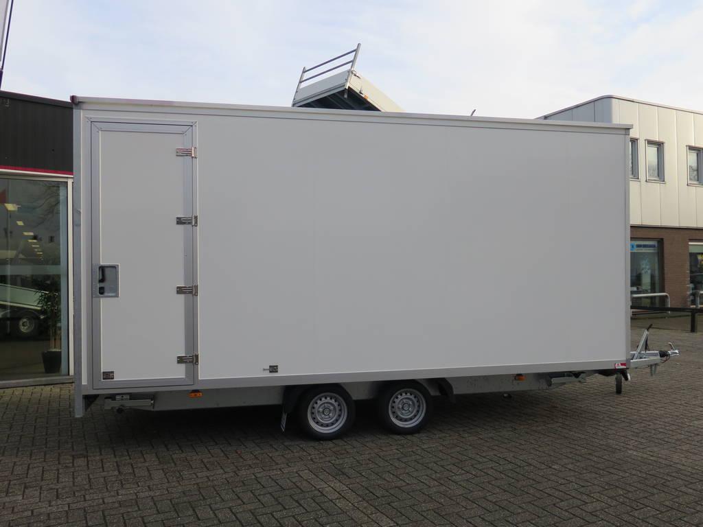 Proline gesloten 501x201x200cm 2500kg gesloten aanhangwagen Aanhangwagens XXL West Brabant zijkant 2.0