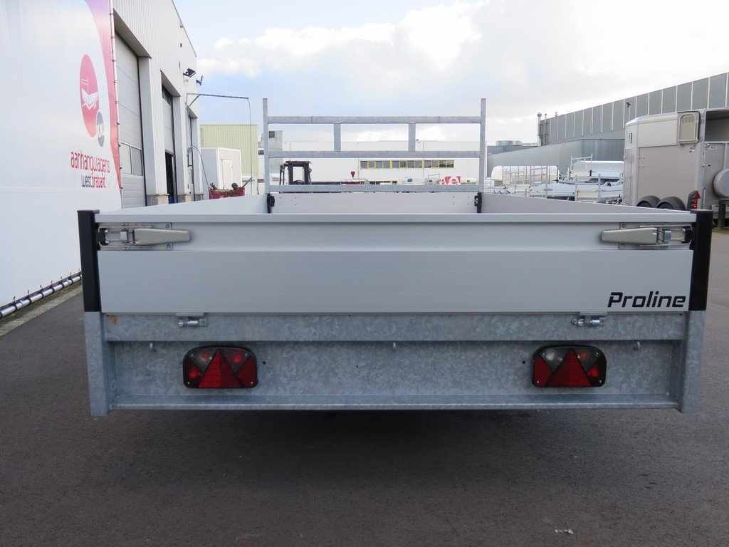 Proline plateauwagen 351x185cm 2000kg Proline plateauwagen 351x185cm 2000kg Aanhangwagens XXL West Brabant 3.0 achter dicht