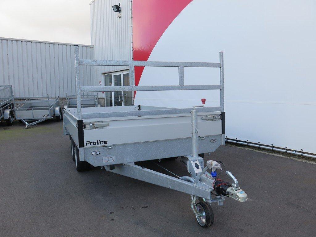 Proline plateauwagen 351x185cm 2000kg Proline plateauwagen 351x185cm 2000kg Aanhangwagens XXL West Brabant 3.0 voorkant