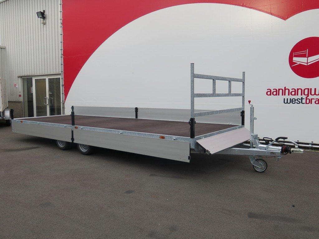 Proline plateauwagen 603x222cm 3500kg verlaagd Aanhangwagens XXL West Brabant 2.0 geopend Aanhangwagens XXL West Brabant