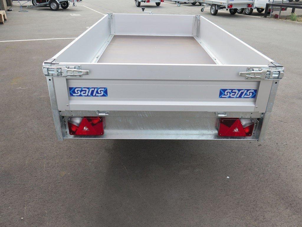 Saris plateauwagen 255x135cm 1400kg Aanhangwagens XXL West Brabant 3.0 achter dicht Aanhangwagens XXL West Brabant