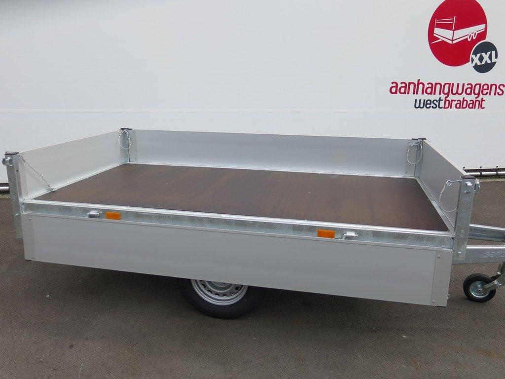 Saris plateauwagen 256x150cm 1500kg Saris plateauwagen 255x135cm 1400kg Aanhangwagens XXL West Brabant 3.0 zijkant open