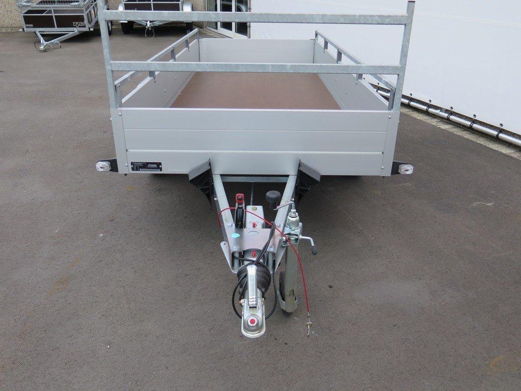 Anssems tandemas aanhanger 301x126cm 1500kg Aanhangwagens XXL West Brabant 2.0 voorkant Aanhangwagens XXL West Brabant