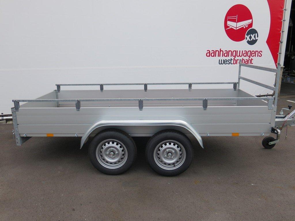 Anssems tandemas aanhanger 301x126cm 1500kg Aanhangwagens XXL West Brabant 2.0 zijkant Aanhangwagens XXL West Brabant