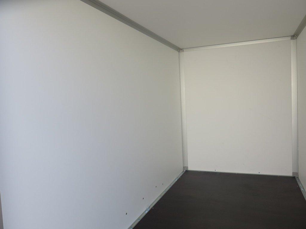 Saris gesloten aanhanger 306x154x180cm 2000kg grijs Aanhangwagens XXL West Brabant 2.0 binnenkant
