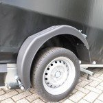 Proline zakbaar met huif 260x155x170cm 1400kg motortrailer Aanhangwagens XXL West Brabant banden Aanhangwagens XXL West Brabant