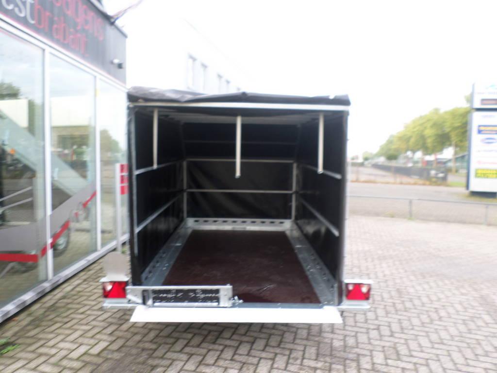 Proline zakbaar met huif 260x155x170cm 1400kg motortrailer Aanhangwagens XXL West Brabant vlak Aanhangwagens XXL West Brabant