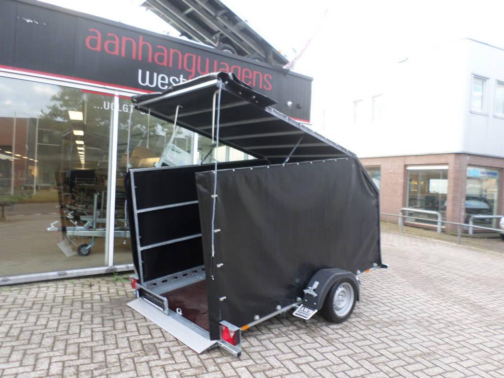 Proline zakbaar met huif 260x155x170cm 1400kg motortrailer Aanhangwagens XXL West Brabant zijkant Aanhangwagens XXL West Brabant
