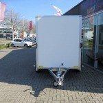 Saris gesloten 306x154x180cm met klep Aanhangwagens XXL West Brabant voorkant