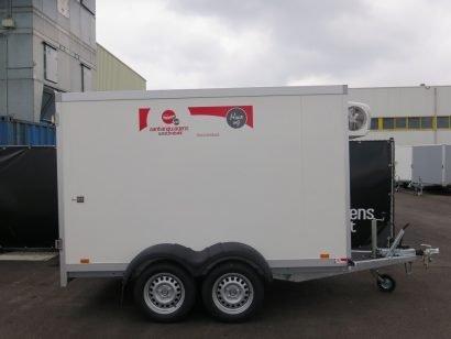 Verhuur 7. 8m3 gesloten aanhanger 300x146x180cm Aanhangwagens XXL West Brabant hoofd