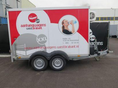 Verhuur 6. 8m3 gesloten aanhanger 300x146x180cm Aanhangwagens XXL West Brabant hoofd