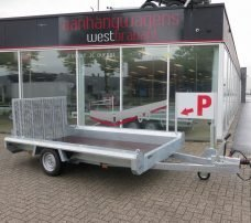 Hulco machinetransporter 300x150cm 1800kg Basic Aanhangwagens XXL West Brabant 2.0 hoofd Aanhangwagens XXL West Brabant