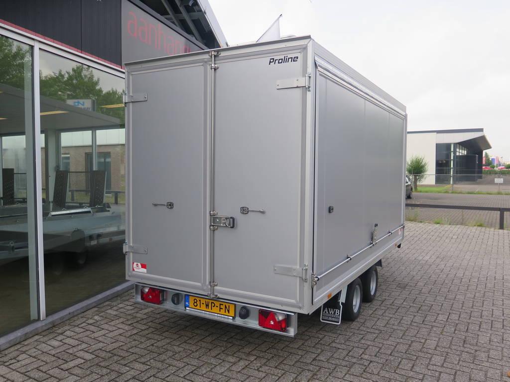 Proline gesloten aanhanger 365x175x190cm 3000kg Aanhangwagens XXL West Brabant achterkant Aanhangwagens XXL West Brabant