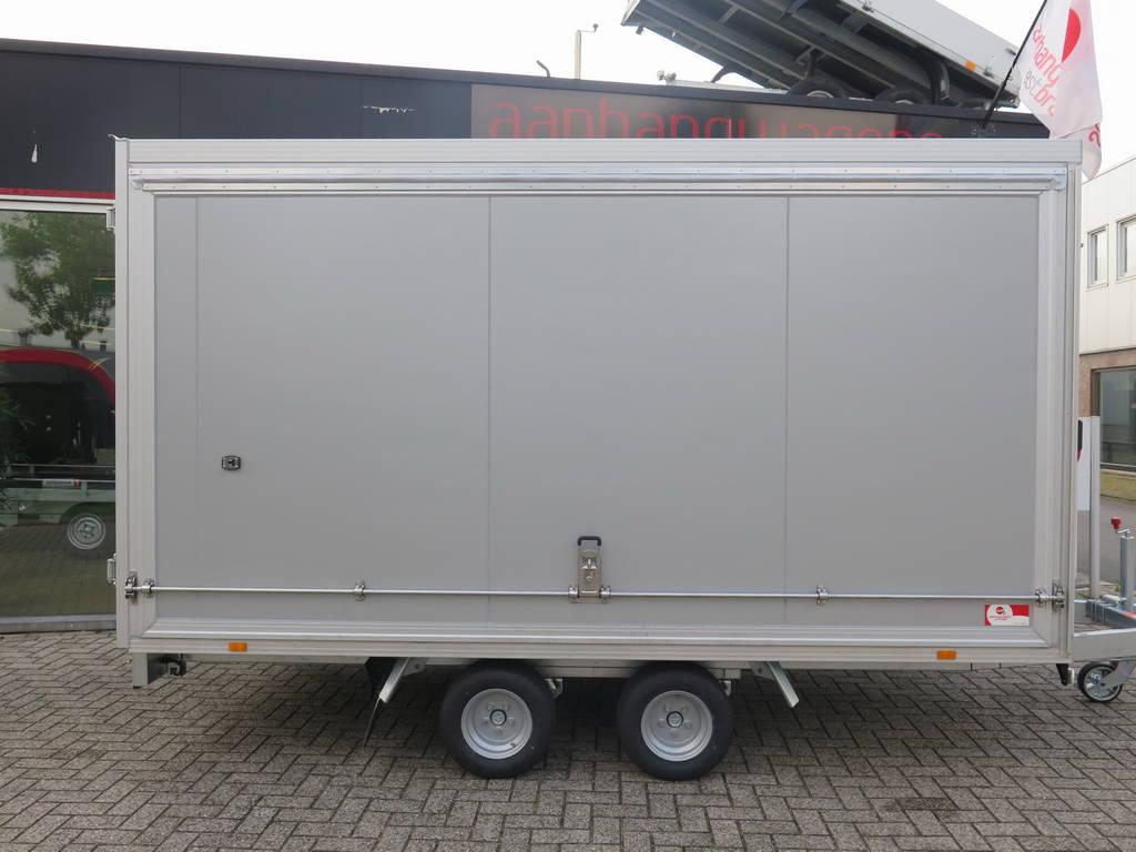 Proline gesloten aanhanger 365x175x190cm 3000kg Aanhangwagens XXL West Brabant zijkant Aanhangwagens XXL West Brabant