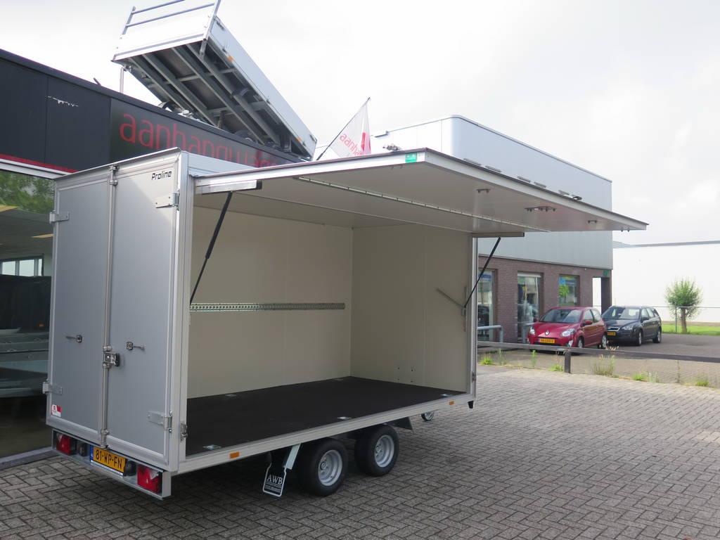 Proline gesloten aanhanger 365x175x190cm 3000kg Aanhangwagens XXL West Brabant zijklep