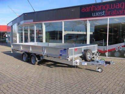 Ifor Williams plateau 547x225cm 3500kg 2-as Aanhangwagens XXL West Brabant hoofd