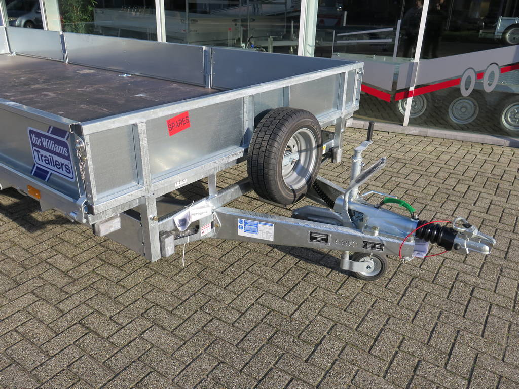 Ifor Williams plateau 547x225cm 3500kg 2-as Aanhangwagens XXL West Brabant voorkant Aanhangwagens XXL West Brabant