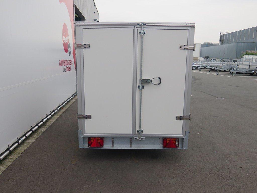 Easyline gesloten aanhanger 250x125x150cm 750kg Aanhangwagens XXL West Brabant achter dicht Aanhangwagens XXL West Brabant