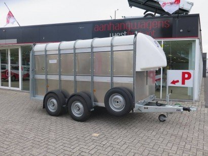 Ifor Williams veetrailer 366x178x183cm klep deur systeem veetrailers Aanhangwagens XXL West Brabant hoofd
