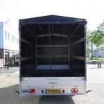 Proline plateauwagen met huif 400x220x210cm 3500kg Aanhangwagens XXL West Brabant achter open