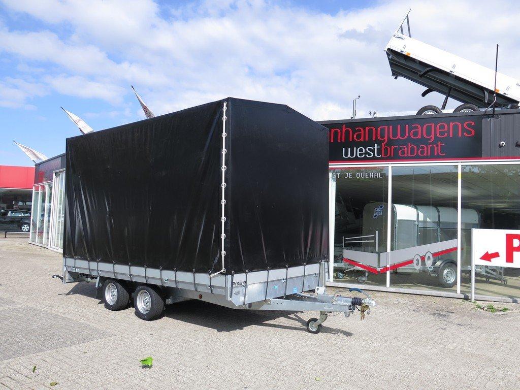 Proline plateauwagen met huif 400x220x210cm 3500kg Aanhangwagens XXL West Brabant hoofd