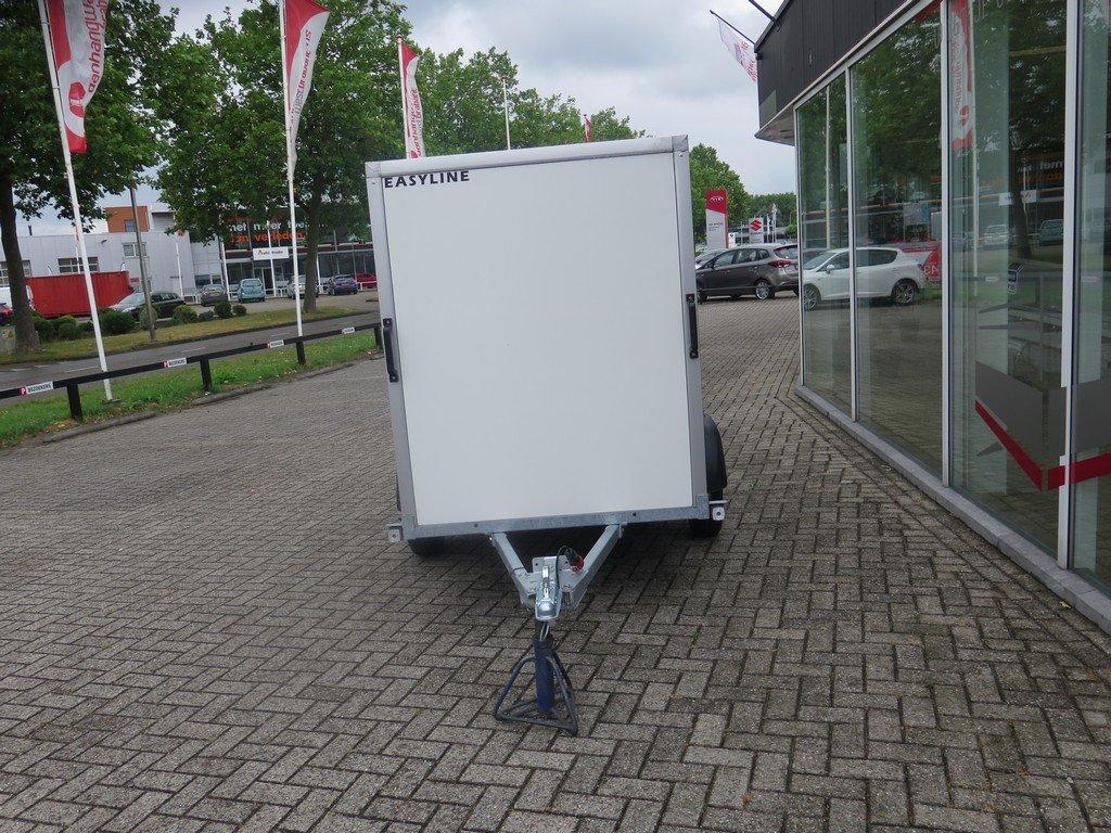 Easyline gesloten aanhanger 200x125x150cm 750kg Aanhangwagens XXL West Brabant voorkant Aanhangwagens XXL West Brabant