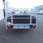 Loady enkelas aanhanger 250x130cm 750kg Aanhangwagens XXL West Brabant 2.0 achter dicht Aanhangwagens XXL West Brabant