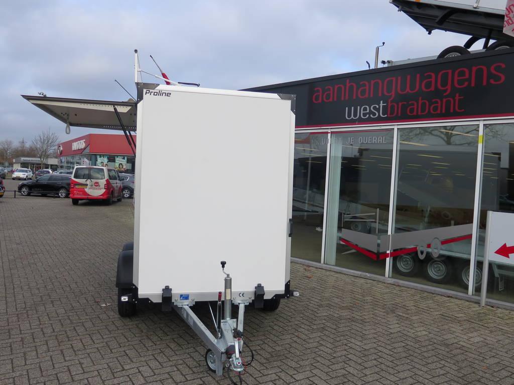Proline maatwerk verkoopwagen 303x150x200cm 2500kg speciaalbouw Aanhangwagens XXL West Brabant voorkant